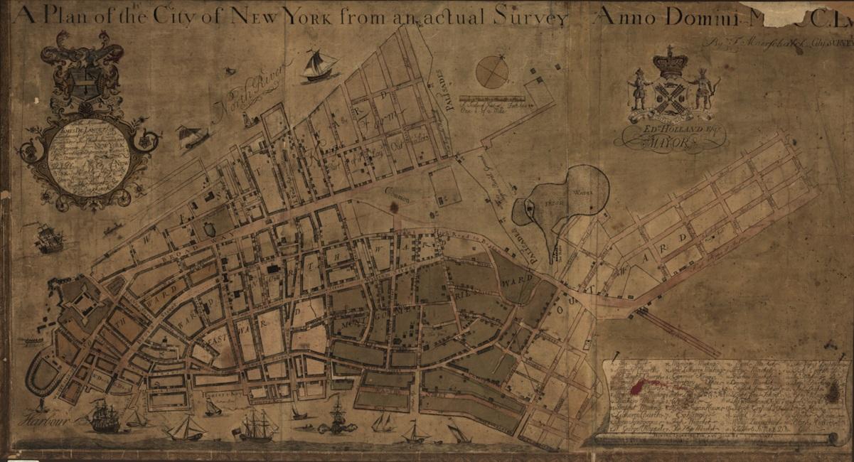 2 Mapa de NY 1755