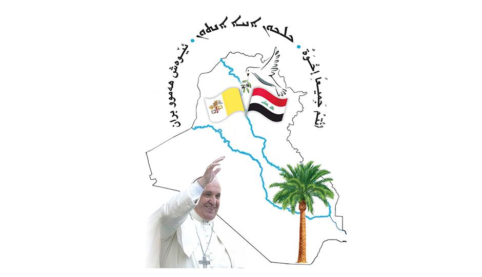 7-Iraque 5-Logo da viagem do Papa ao Iraque
