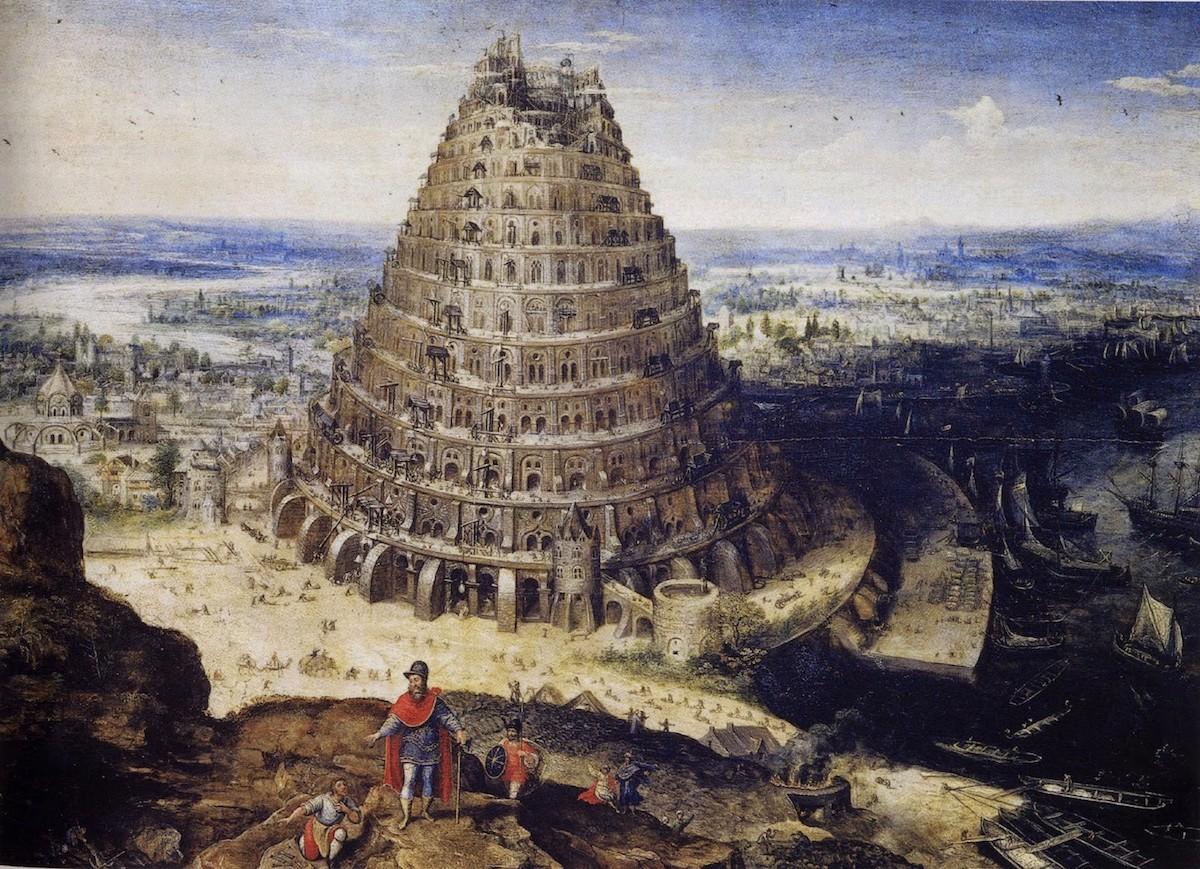 Torre de Babel, Cacofonia, Línguas, Lucas van Valckenborch, Louvre, Pintura, arte