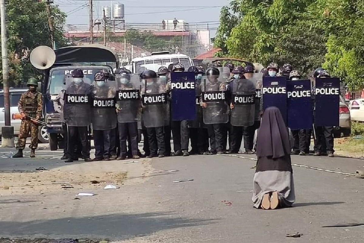 freira, Birmânia, Myanmar, militares, religiosa