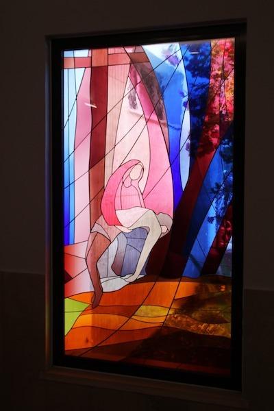 Dina Figueiredo, Maria com Jesus, vitral