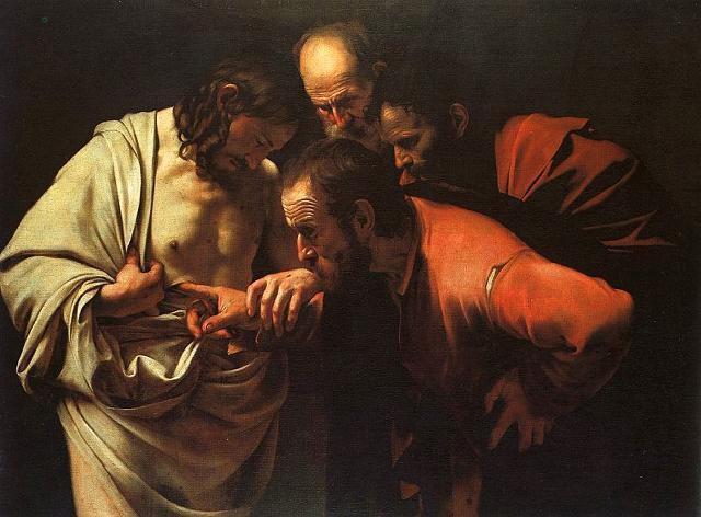 Caravaggio, A Dúvida de Tomé, 1599