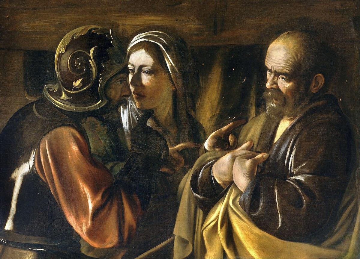 Caravaggio, A Negação de Pedro,