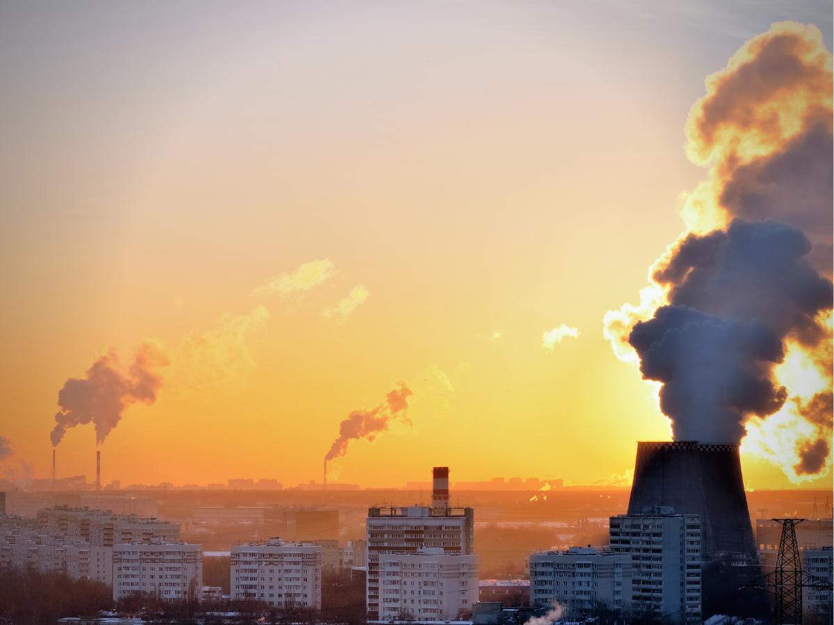 poluicao ambiente fabricas co2 clima Foto Direitos Reservados