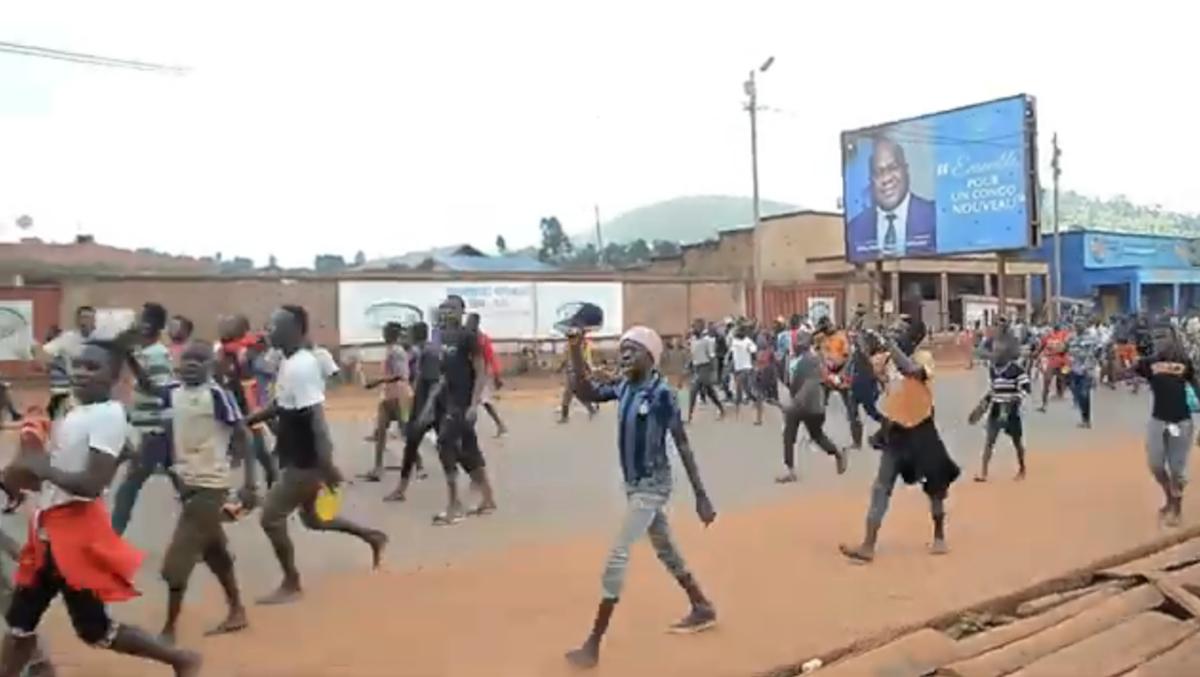 Manifestações, Butembo, Congo