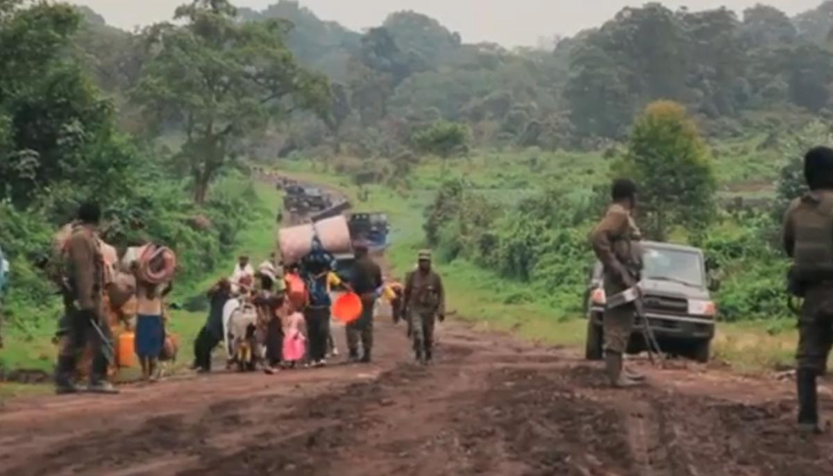 Kivu Norte, Congo, deslocad
