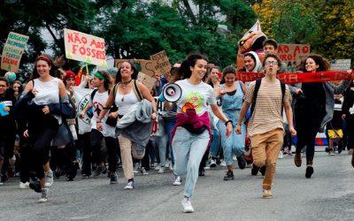 Estudantes em greve pelo clima no dia 23