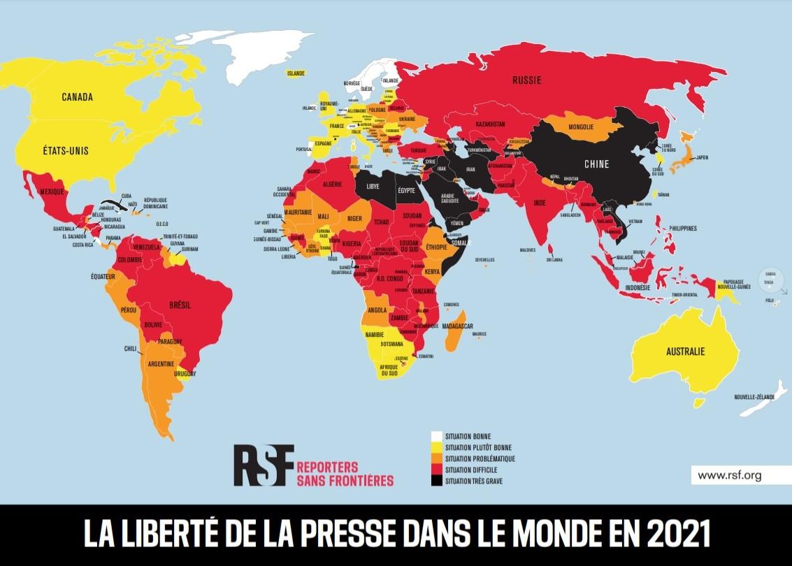 mapa, liberdade de imprensa