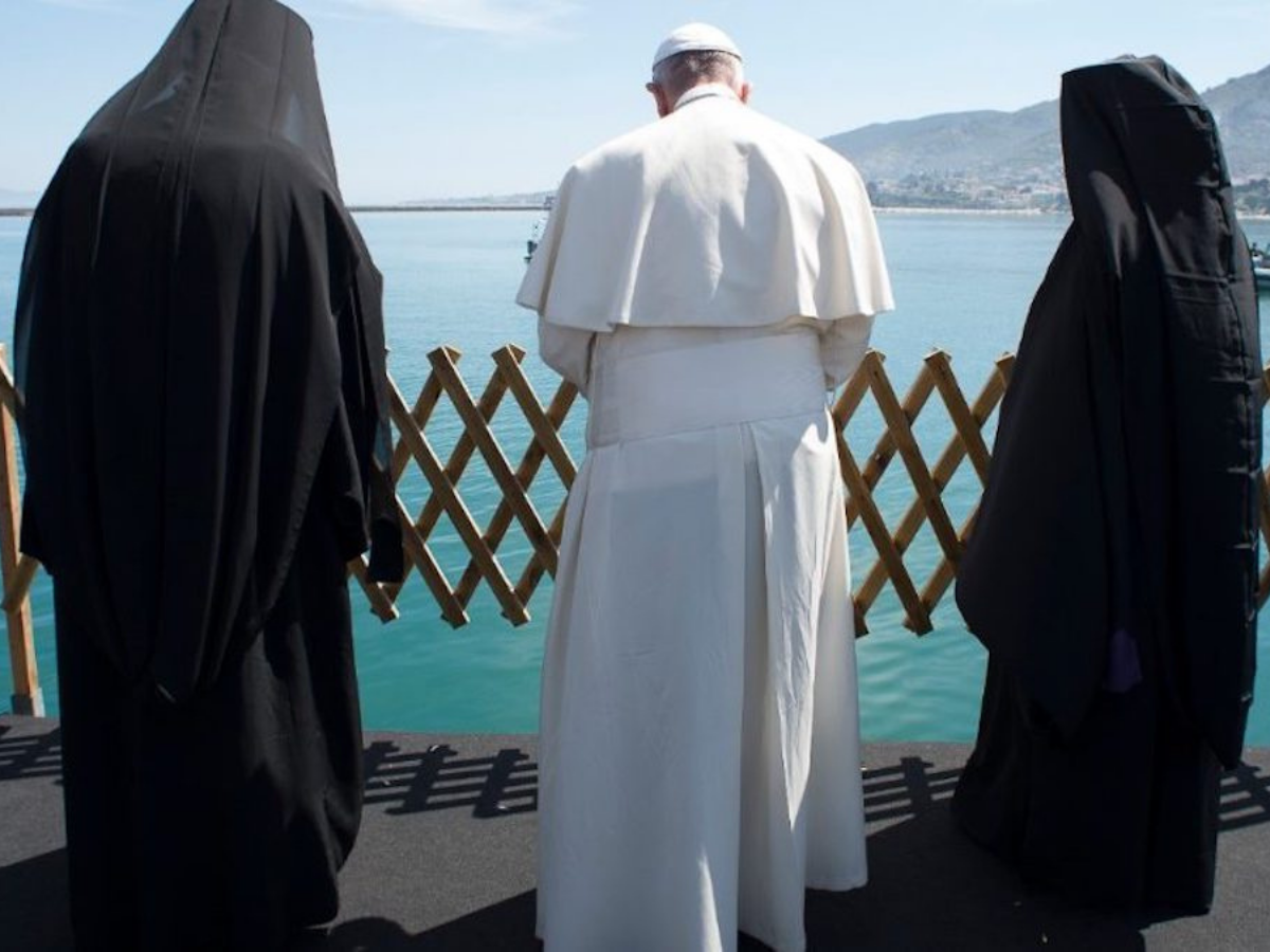 papa francisco Patriarca Ecuménico Bartolomeu I e o Arcebispo Ortodoxo de Atenas e toda a Grécia, Ieronymos Foto Vatican Media