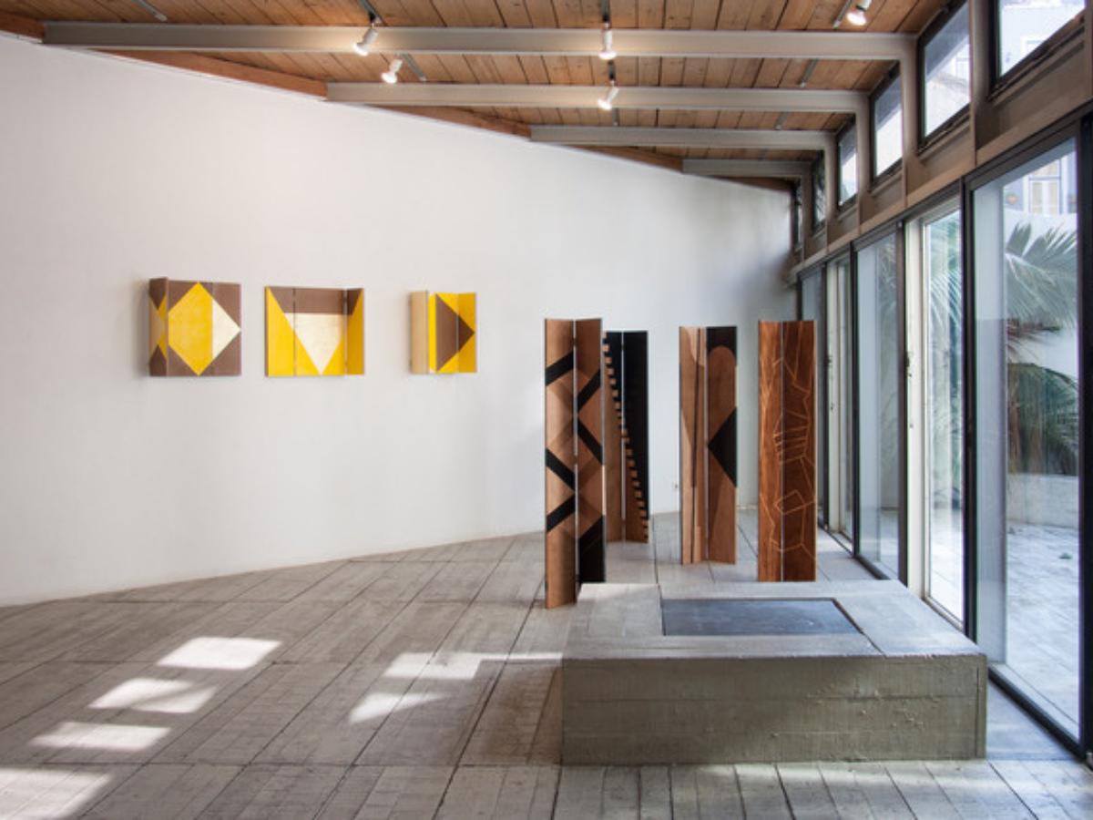 Trípticos e Dípticos de Rui Aleixo na exposição Eikon, galeria Diferença em Lisboa, 2018 Créditos Hugo Rodrigues Cunha (1)