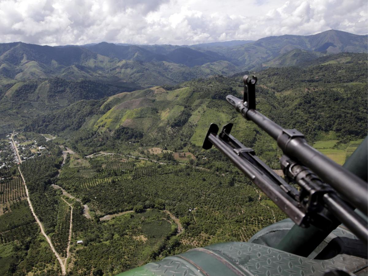 Valle de los Ríos Apurímac, Ene y Mantaro (VRAEM) Foto Min Defesa Peru