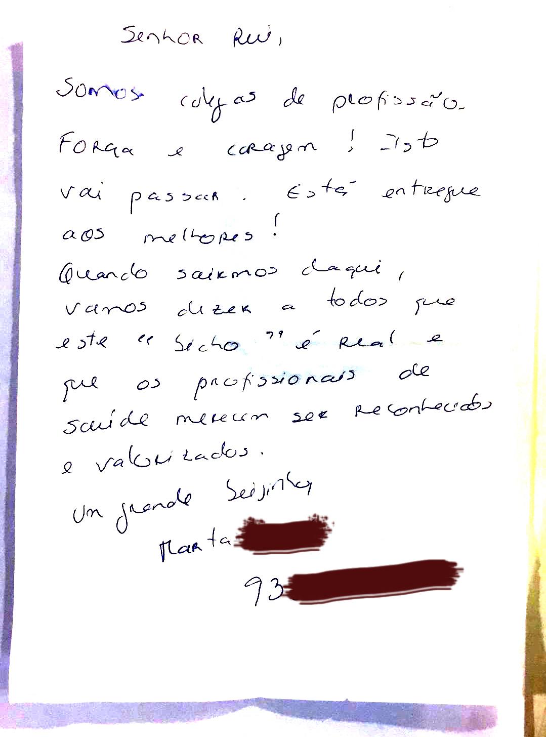 Rui Araújo carta