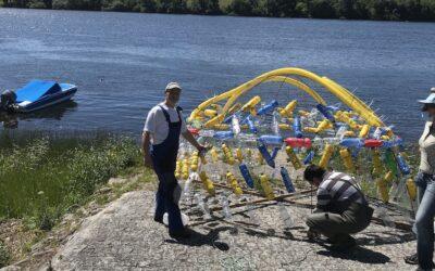 """""""Ilhas de Plástico"""" no rio Minho apelam à luta ambiental"""