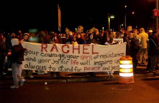 "Vigília pela Paz em nome de Rachel Corrie - autor: My Red Dice"""
