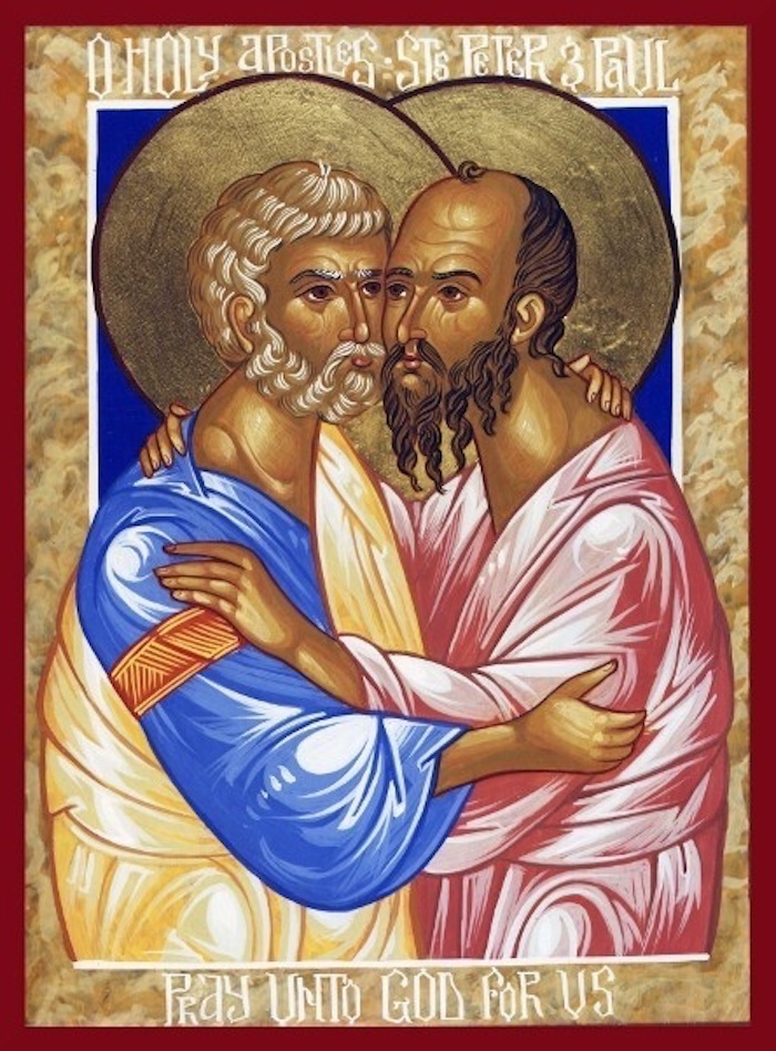 Ícone representando a sinaxe entre Pedro e Paulo