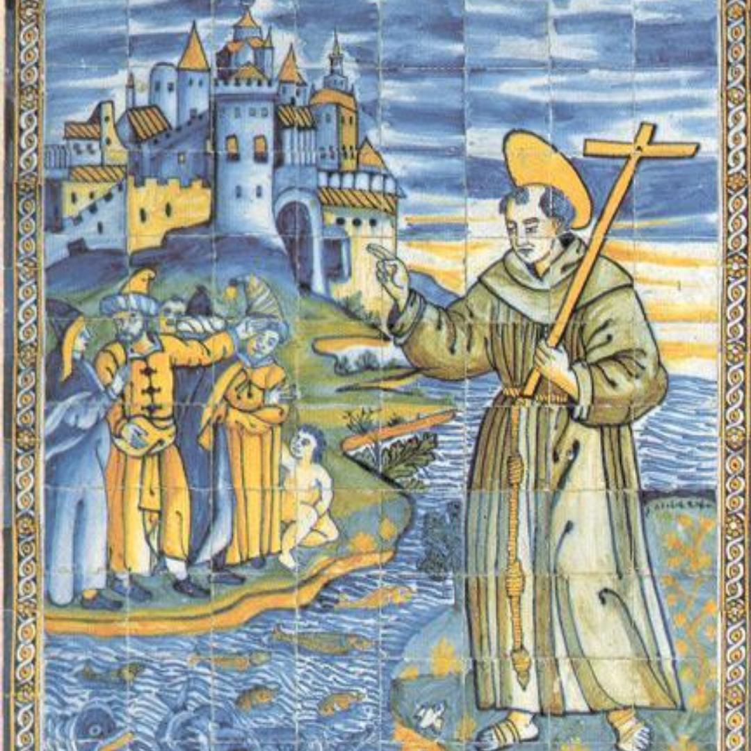 santo antonio azulejo cruz