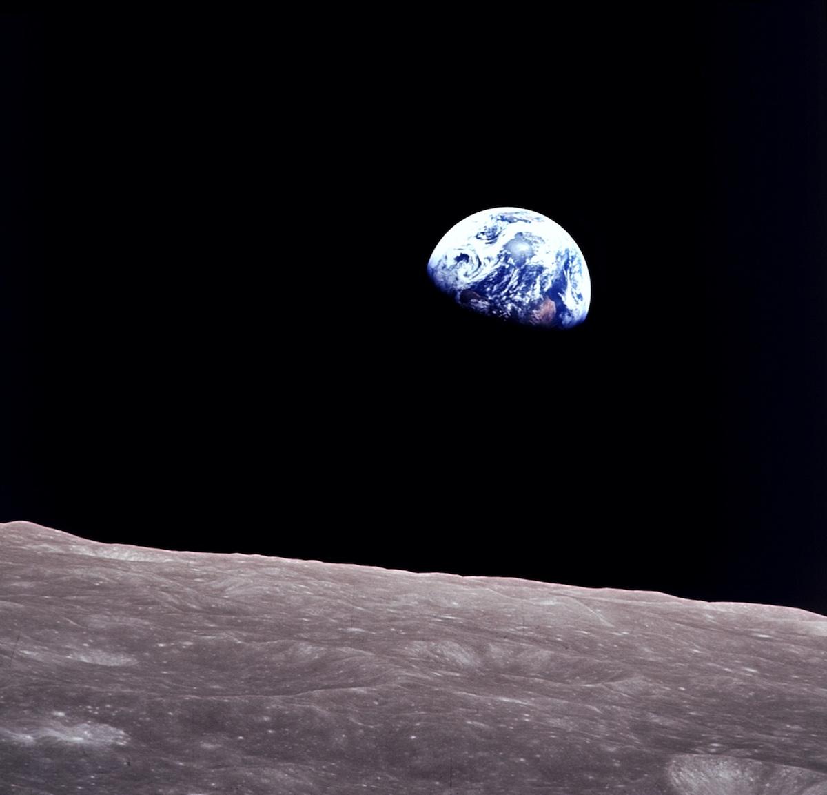 Apolo 8. Terra vista do espaço