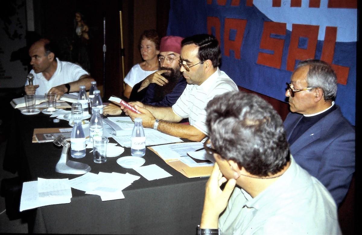 Pastor Dimas de Almeida e Mulher (à esquerda), na XIII Semana Bíblica Nacional, 1988, Semana Bíblica