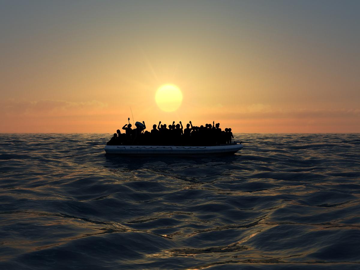 refugiados migrantes mediterraneo foto naeblys