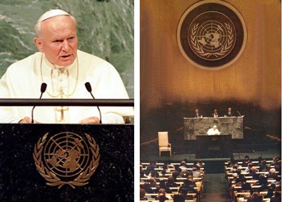 João Paulo II ONU em 1995