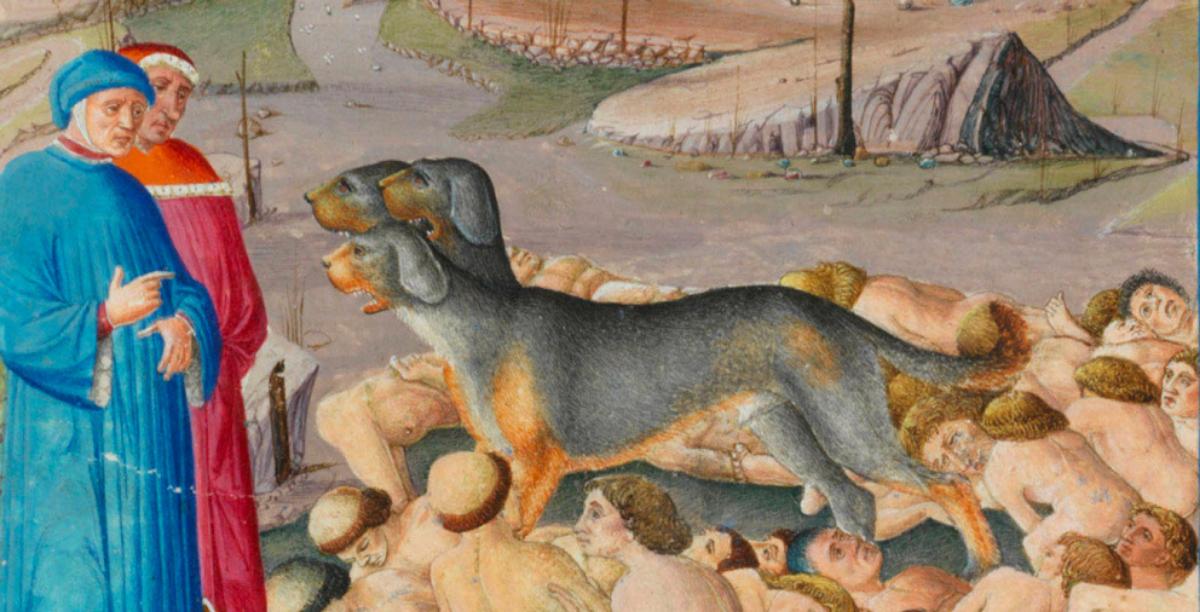 dante iluminuras inferno, imagem biblioteca vaticano (1200 x 612 px)