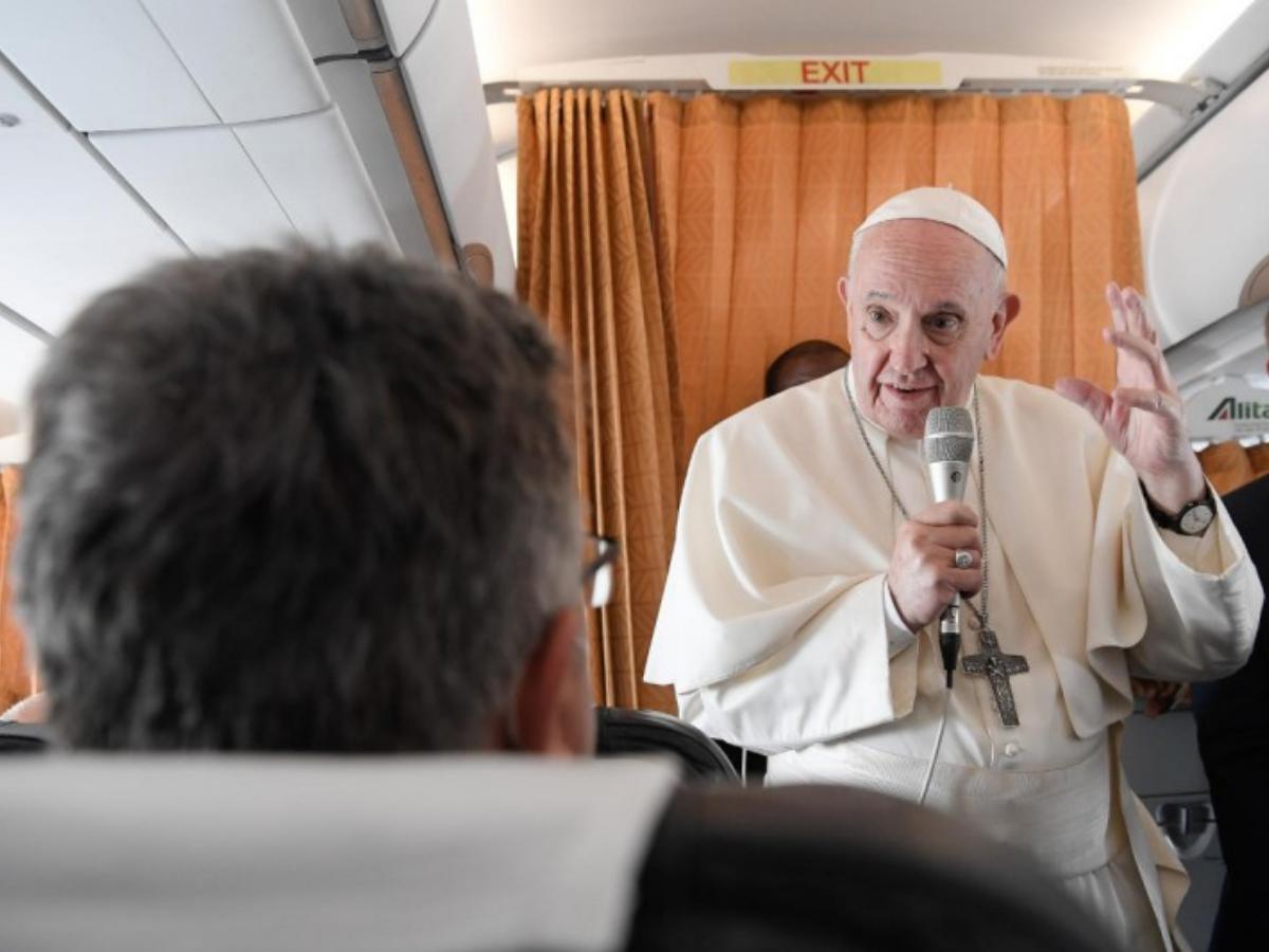 papa francisco aviao viagem eslovaquia foto vatican news
