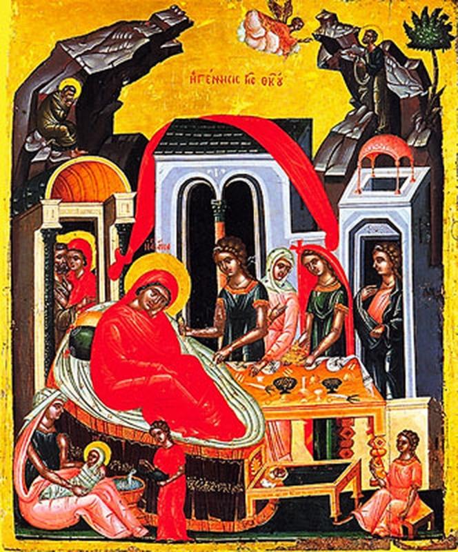Ícone da Natividade de Maria Mãe de Jesus